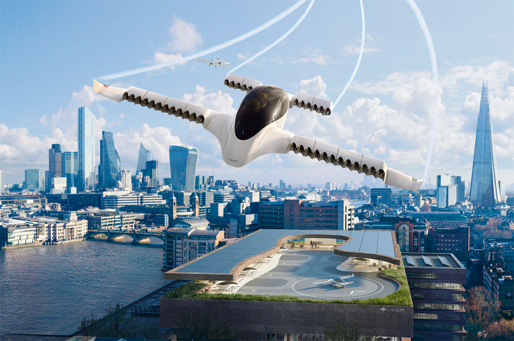 The Lilium Jet — one of many concepts for a driverless taxi