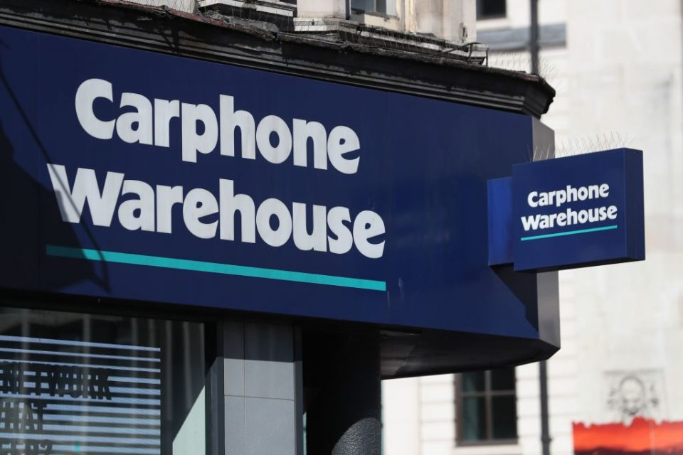 BRITAIN-RETAIL-ECONOMY-BUSINESS-CARPHONE WAREHOUSE