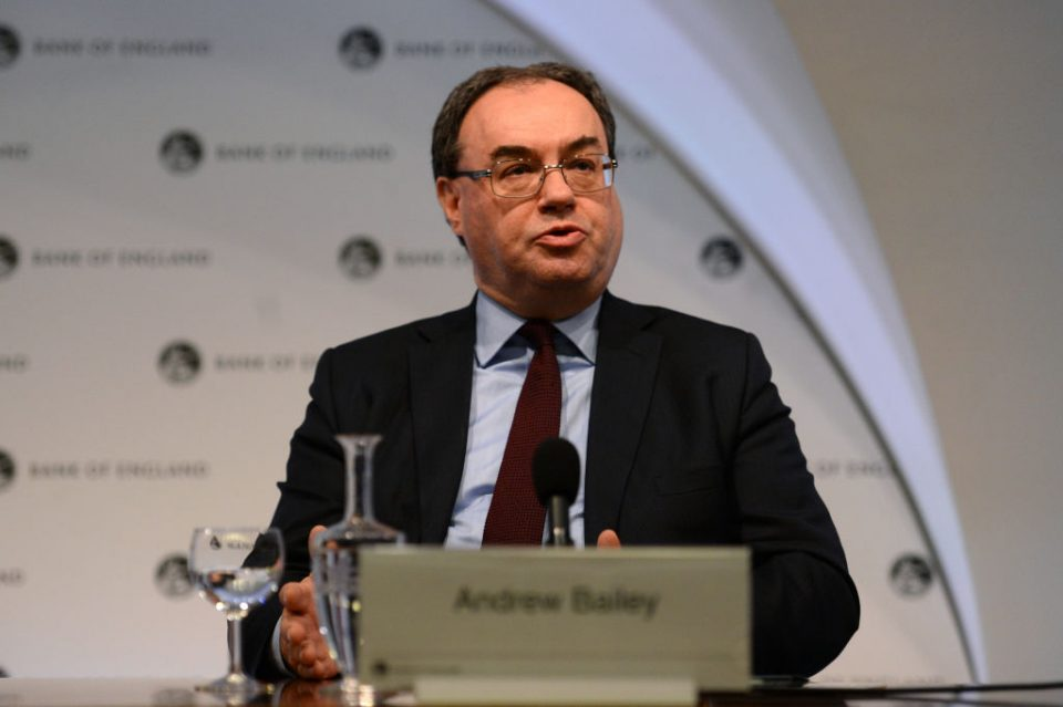 Andrew Bailey urged to keep climate focus at Bank of England