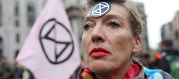 An Extinction Rebellion climate activist