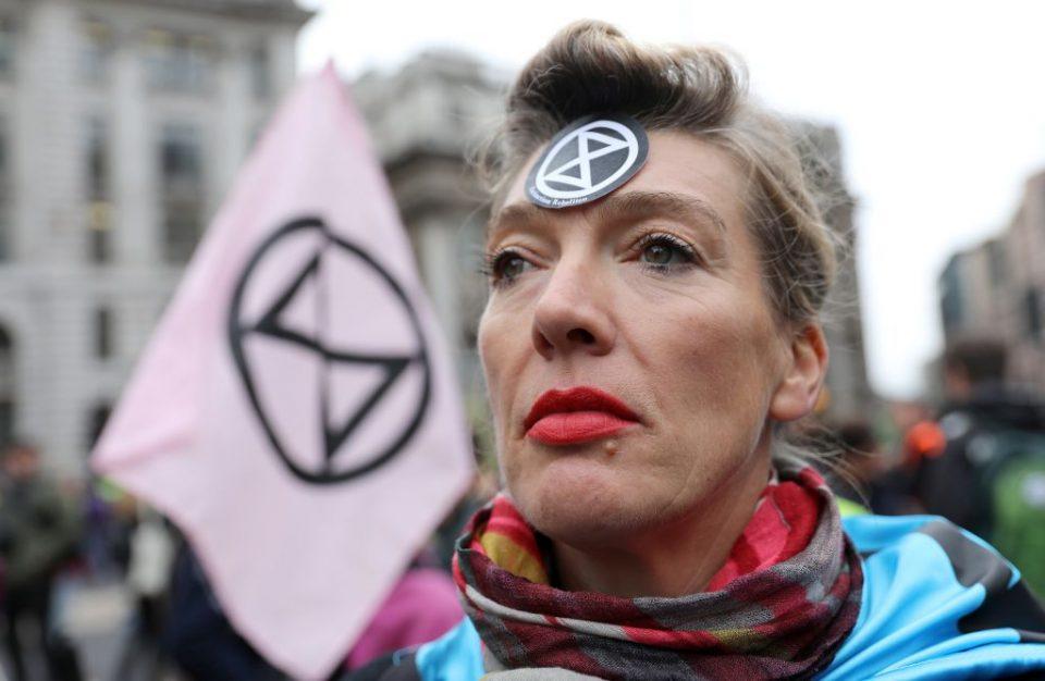 An Extinction Rebellion climate activist