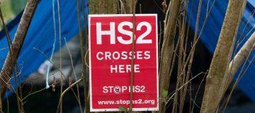 BRITAIN-TRANSPORT-ENVIRONMENT-HS2-PROTEST