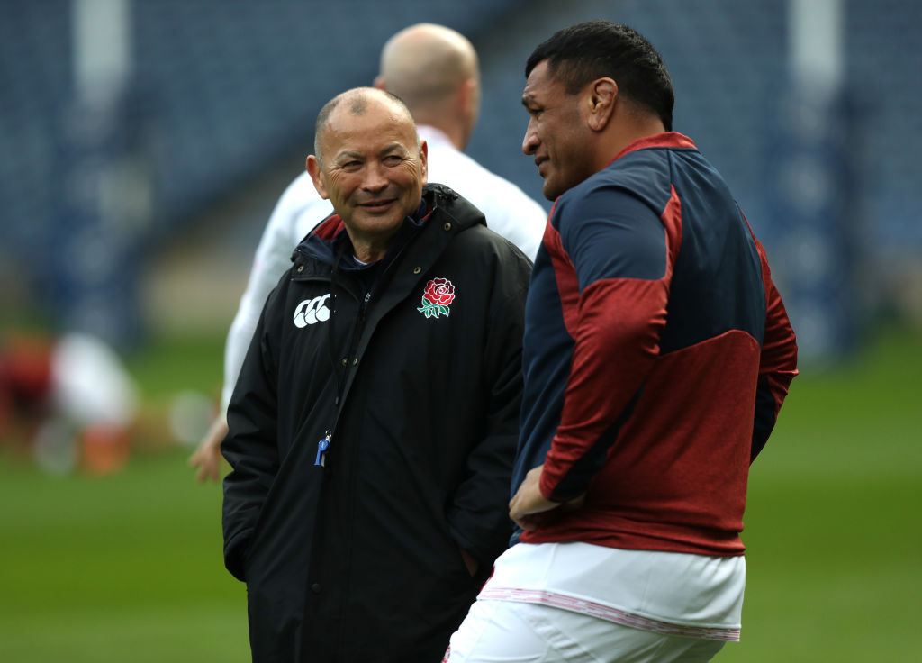 Mako Vunipola and Eddie Jones