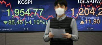 Asian stocks and oil prices sank after coronavirus claimed more lives over the weekend
