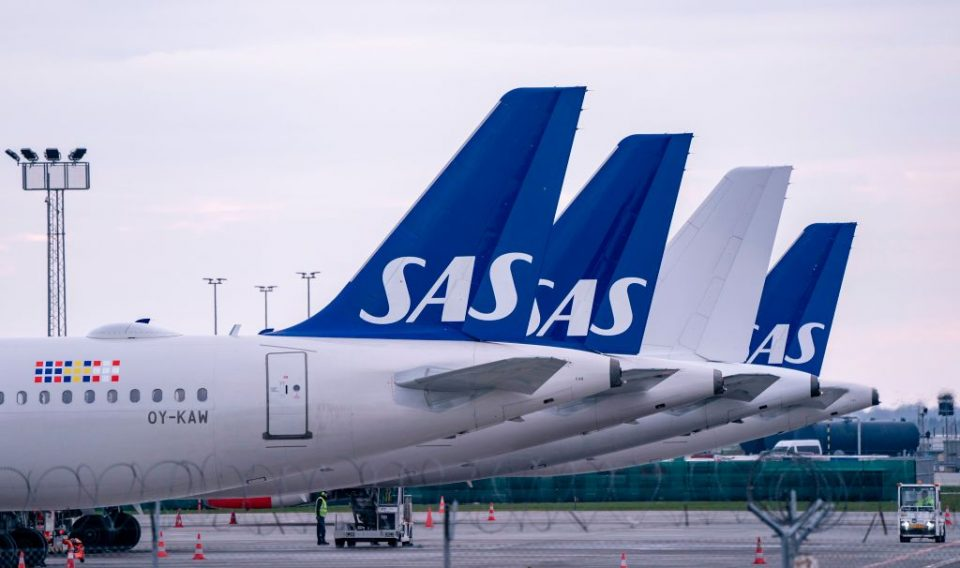 """Scandinavian Airlines (SAS) today announced that it has put most of its operations """"on hold"""" due to the """"non-existent"""" demand for air travel."""