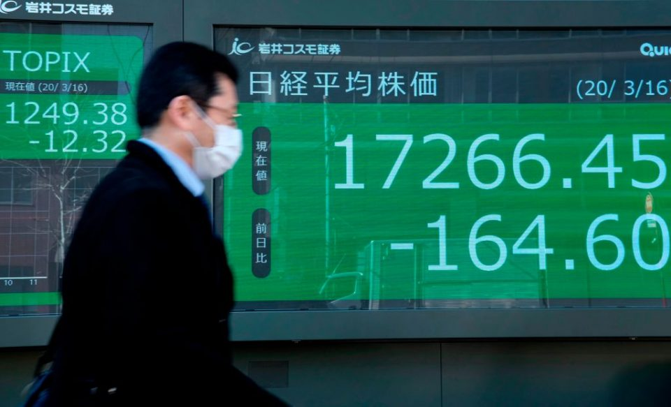 Global stocks are set to rise sharply today after Asian stocks rebounded on the Federal Reserve's unlimited bond-buying pledge to tackle coronavirus