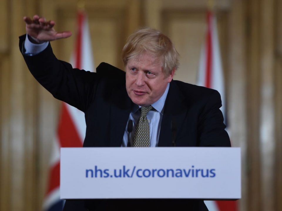 UK Prime Minister Gives Daily Address To The Nation On Coronavirus
