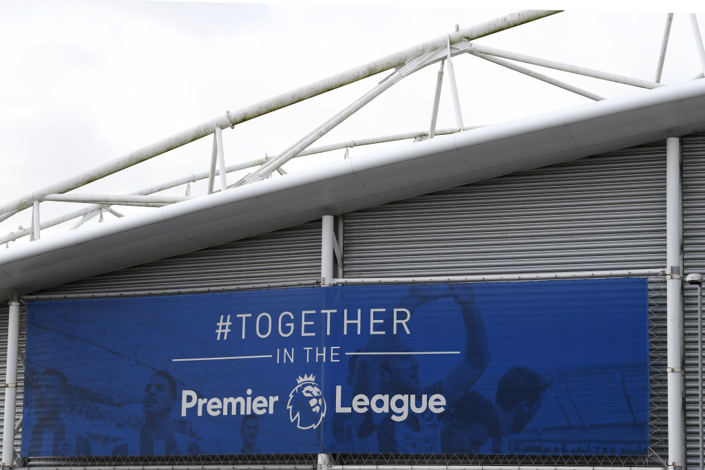 General View of Amex Stadium after Brighton & Hove Albion v Arsenal Premier League game cancelled due to Covid-19