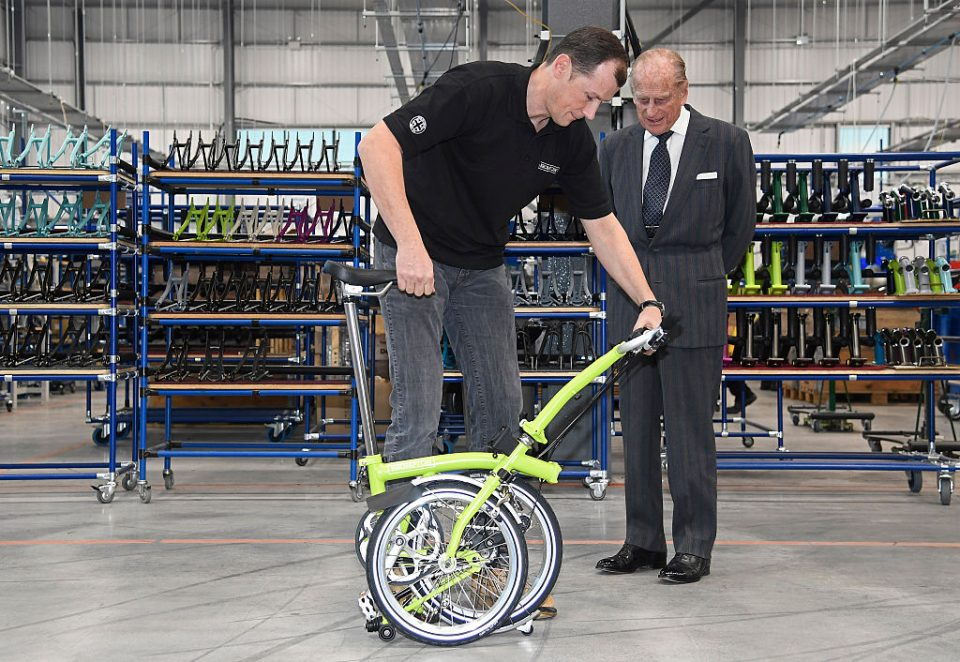 The Duke Of Edinburgh Opens The New Brompton Bicycle Factory