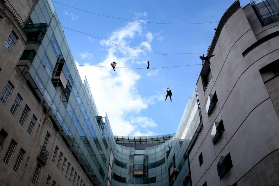 The Flying Frenchies Live Highline Performance on The One Show