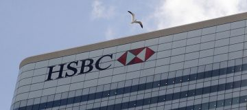 The UK headquarters of HSBC bank is pict