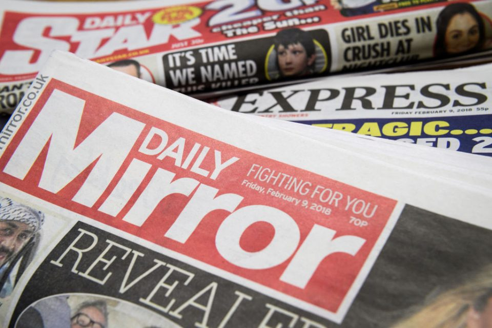 Mirror publisher Reach