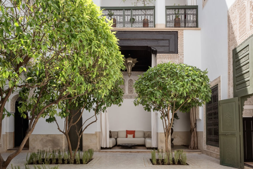 Courtyard at Le Farnatchi