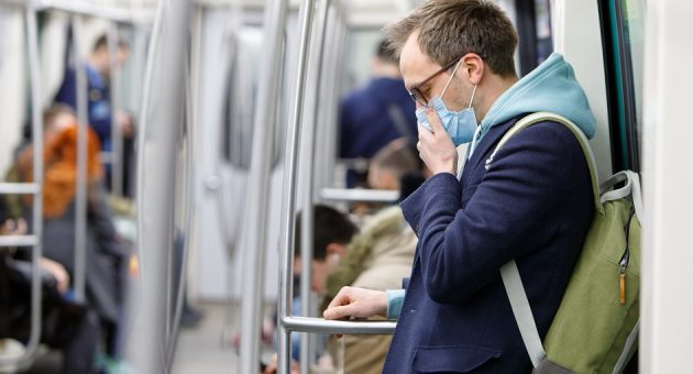 Man with coronavirus on train