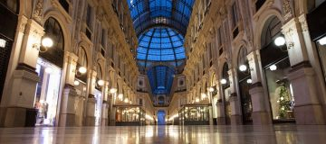 empty milan shopping centre