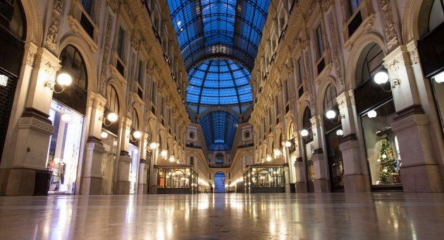 empty milan shopping centre
