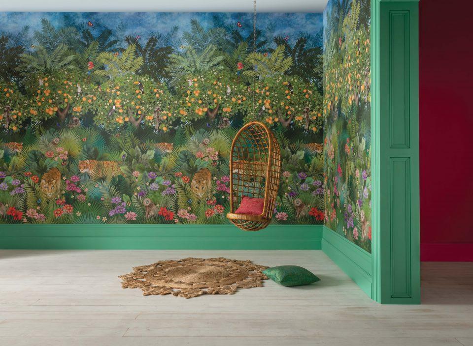 Matthew Wiliamson x Osborne and Little Tiger Grove wallpaper