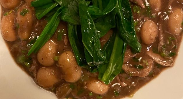 Cupboard Love: Our new daily column on isolation cooking – today, braised butter beans