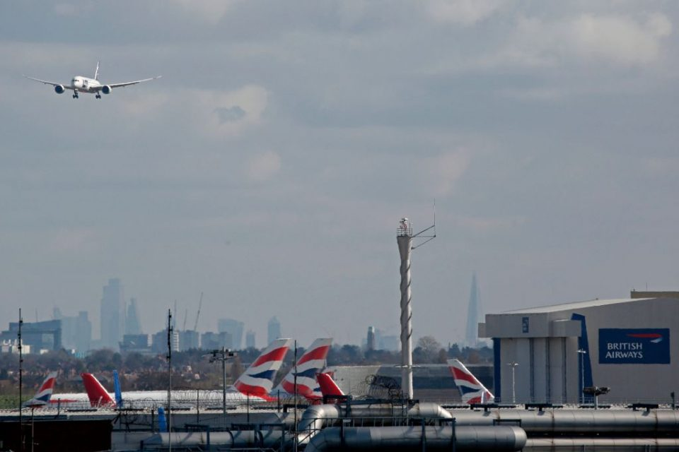 British Airways owner IAG has said it will now suspend 90 per cent of its flights, up from the 75 per cent previously announced, as the airline industry looks to protect itself against the coronavirus outbreak.