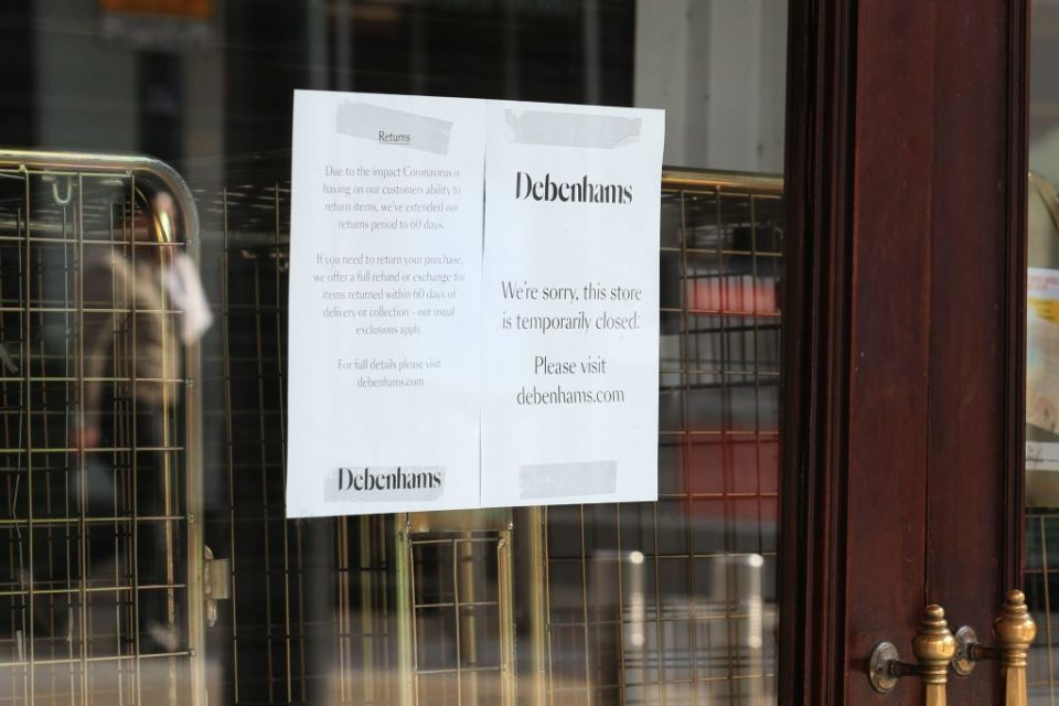 Debenhams has closed all stores in the UK coronavirus lockdown, and now shareholders may put it into administration to protect it from legal claims