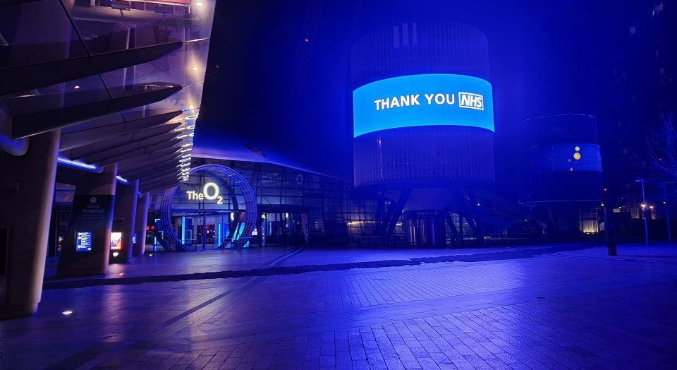 O2 has made London's O2 Arena available to the NHS for the training of additional staff required at the new Nightingale hospital in the Excel centre.