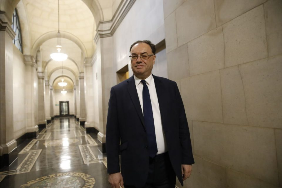 Bank of England 'not contemplating' negative interest rates, says governor Andrew Bailey