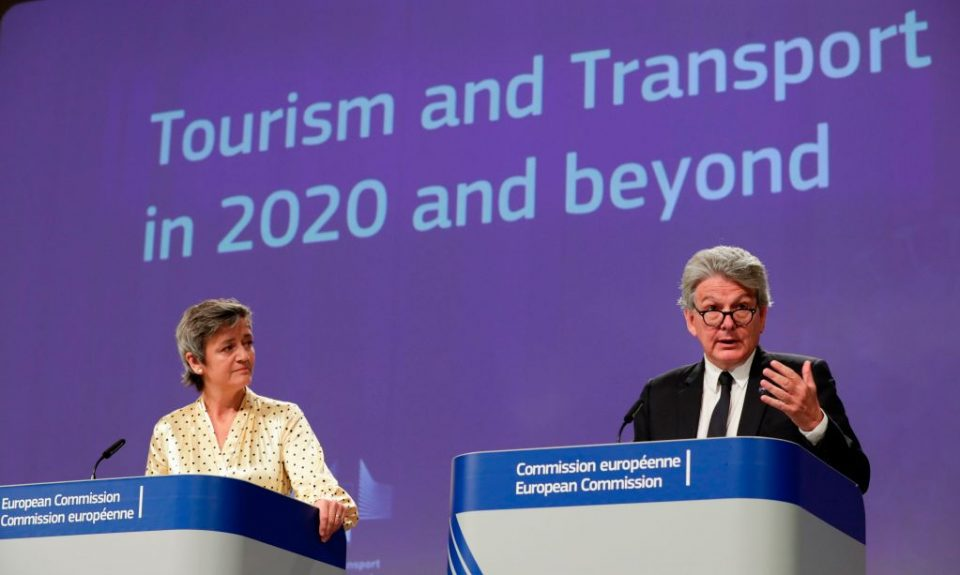 The EU has lain out new guidelines for member states to use to reopen their borders and encourage tourism as the bloc seeks to begin its recovery from the coronavirus pandemic.