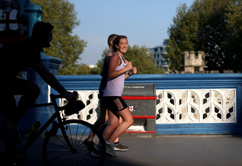 Views Of The Iconic London Marathon Route In Coronavirus Lockdown