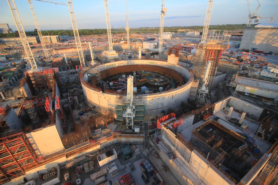 Construction at Hinkley Point C nuclear power station in Somerset remains on track despite the coronavirus crisis,