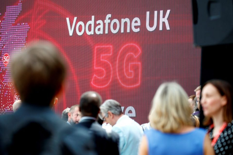 BRITAIN-TELECOMMUNICATION-MOBILE-BUSINESS-VODAFONE-5G