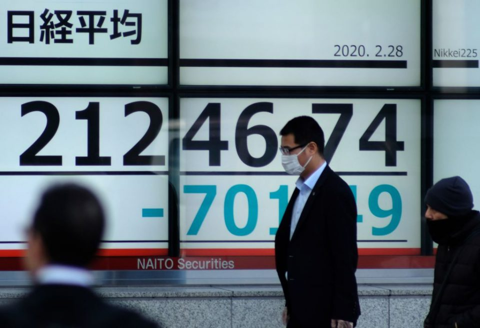 Asian stocks and oil prices fell on Monday due to fears of a second wave of coronavirus infections, not helped by poor economic data out of China