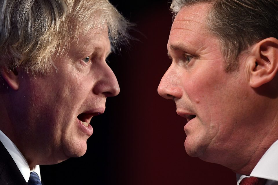 Prime Minister Boris Johnson and Labour Leader Keir Starmer PMQ's