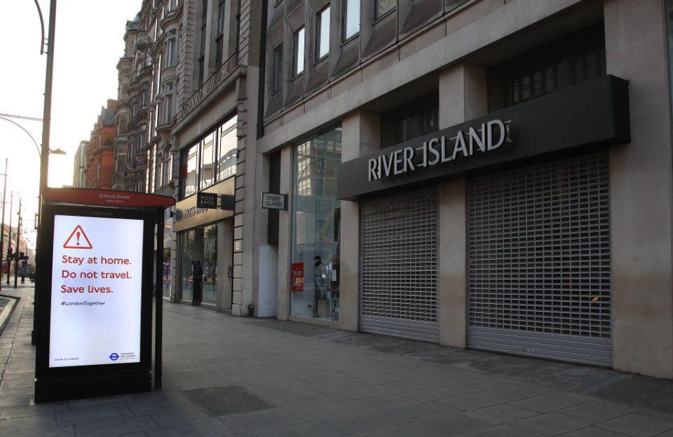 UK economy shrank 20 per cent in April lockdown