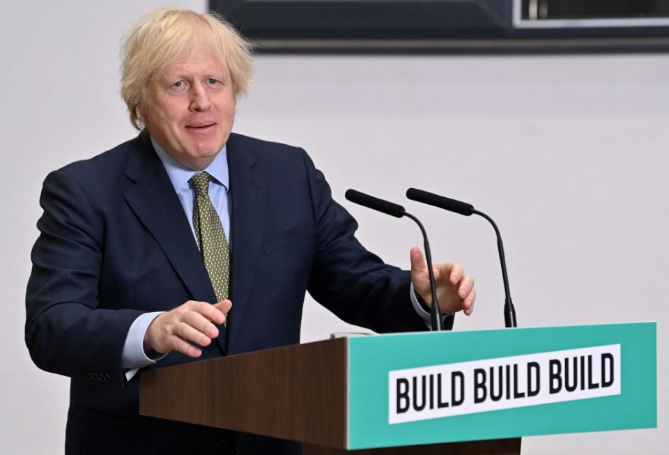 "Boris Johnson has today laid out his vision for rebuilding the UK after the coronavirus pandemic, pledging to ""build build build"" to get Britain back on its feet."