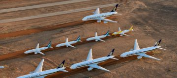 Alice Springs Airport Houses Planes Grounded Due To The Coronavirus Pandemic