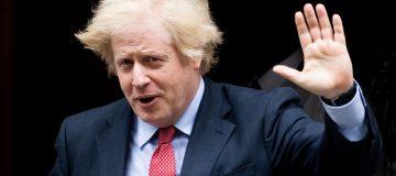 Boris Johnson Leaves Downing Street For PMQs