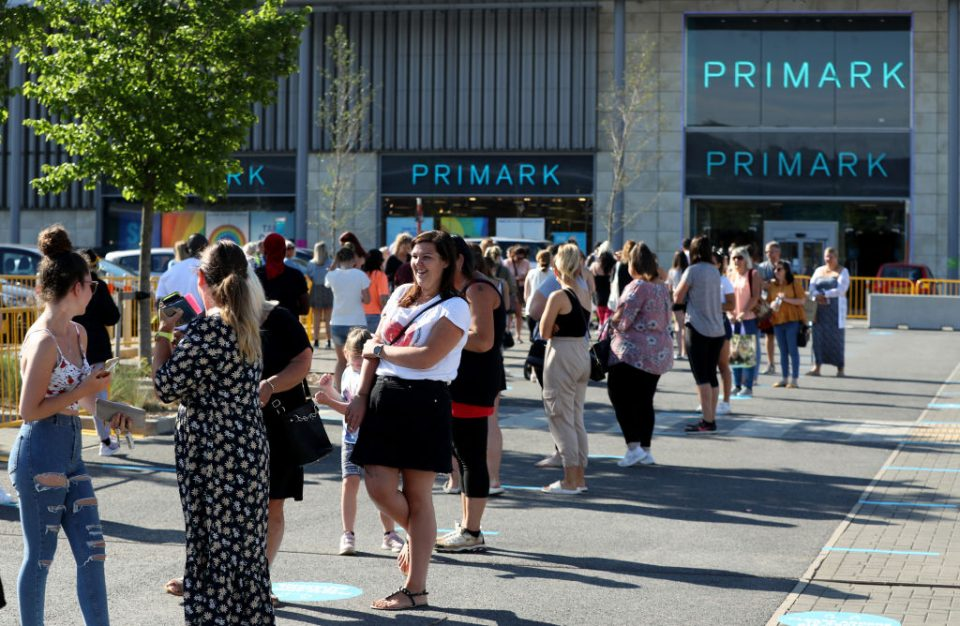 Queues form at Primark at the Rushden Lakes shopping complex