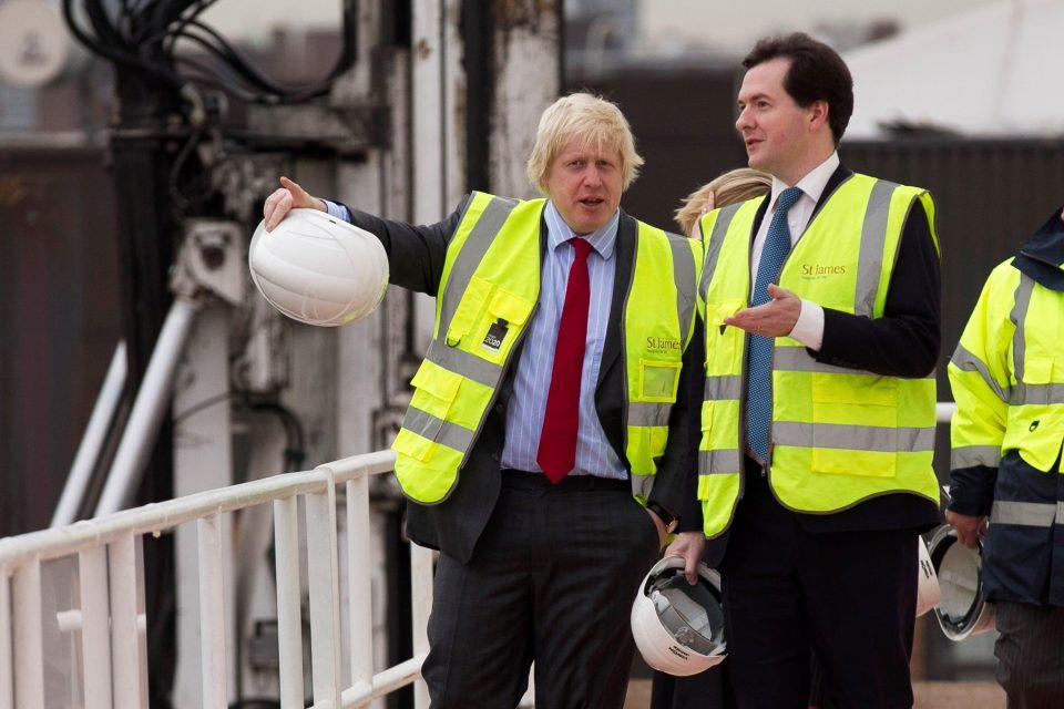 Chancellor Of The Exchequer George Osborne Visits Riverlight Development