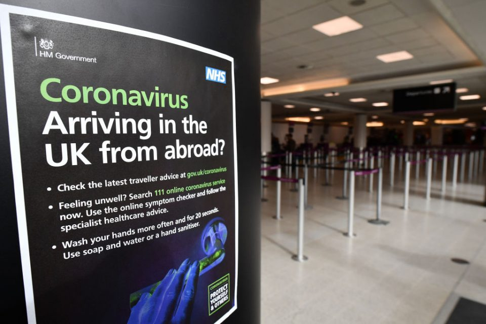 The UK's aviation industry has called on the government to implement focused quarantines on specific regions of overseas countries