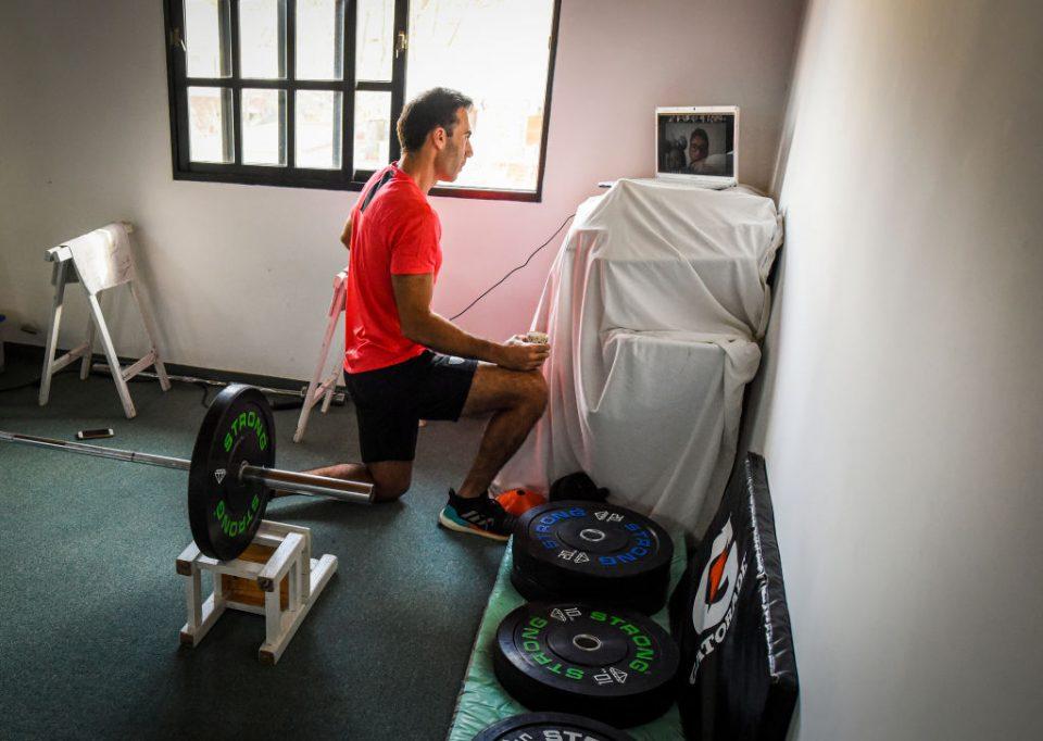 Juan Manuel Vivaldi Trains In Isolation During Coronavirus Pandemic