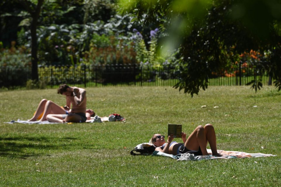 Temperatures have hit 35 degrees in London today, making it officially the hottest day of the year so far.