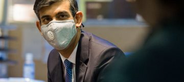 Rishi Sunak And Therese Coffey Visit Jobcentre Plus In East London