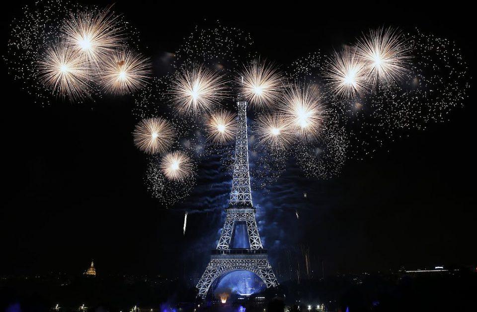 2016 Bastille Day Fireworks At Eiffel Tower In Paris