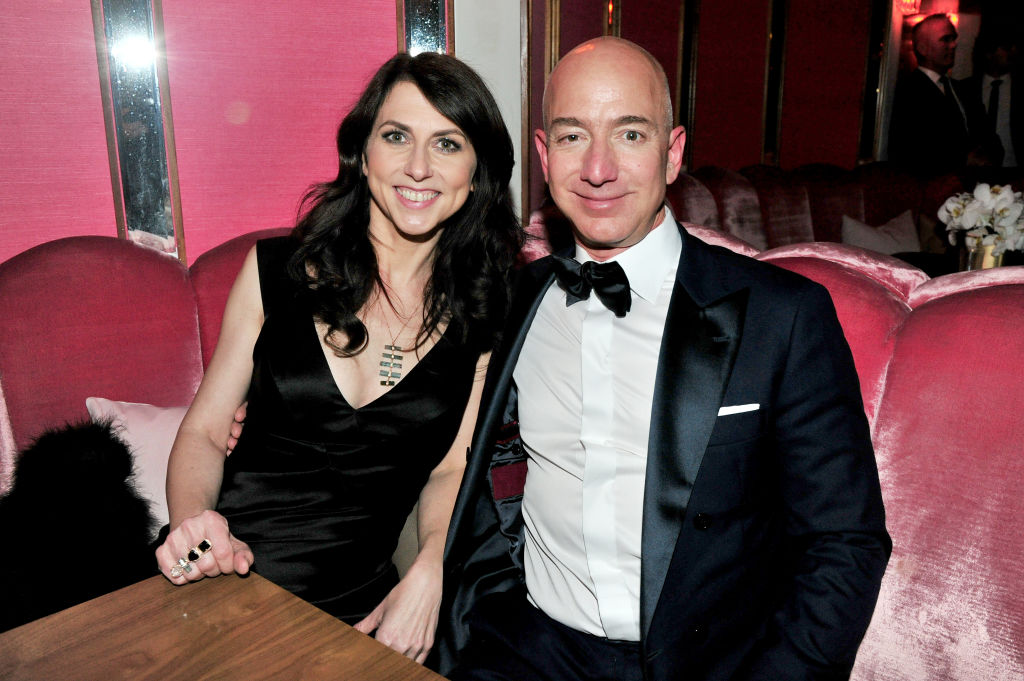Jeff Bezos agreed to give his ex-wife Mackenzie Bezos a four per cent share in Amazon in their divorce settlement