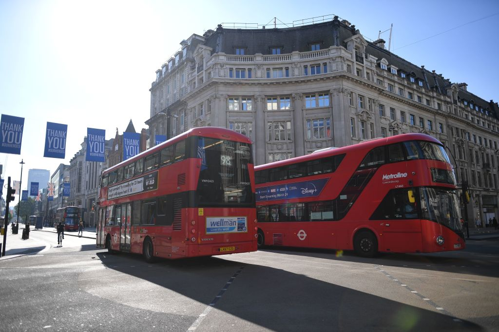 London buses are up and running to bring people to the city's reopened shops as the government continues to ease its lockdown