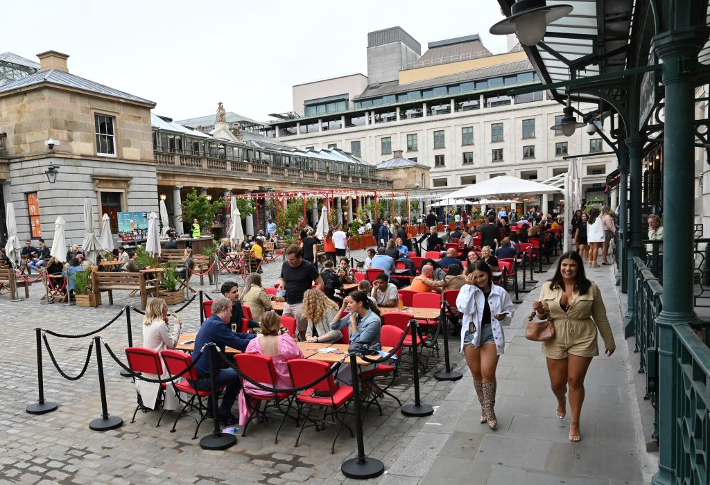 London hospitality firms like restaurants in Covent Garden are suffering from a lack of footfall