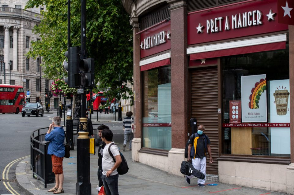 High street stalwart Pret a Manger said today that it would cut 2,800 jobs as a result of the coronavirus pandemic, which has seen sales drop to levels last seen a decade ago.