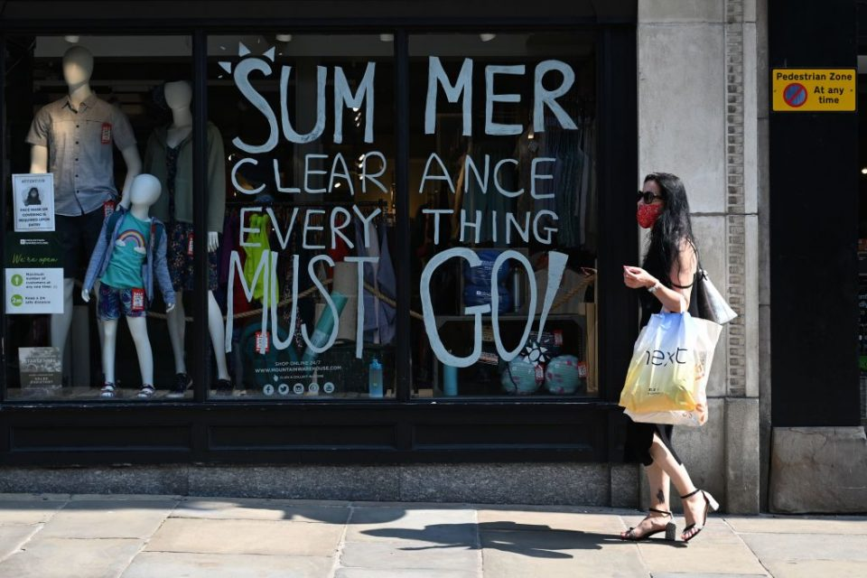 UK retail sector enjoys 'significant' jump in footfall as economy recovers
