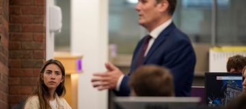 Labour Leader Meets Students Receiving A'Level Results
