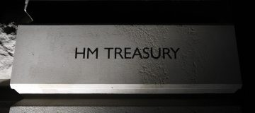 The sign on the HM Treasury on Horse Gua